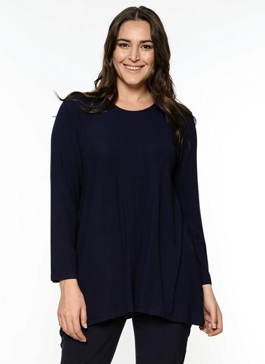 Butik Triko Uzun Kollu Bluz Lacivert